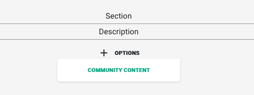 Add section to community